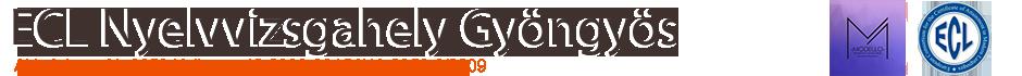 Nyelvtanfolyam Gyöngyös – ECL Vizsgahely Logo